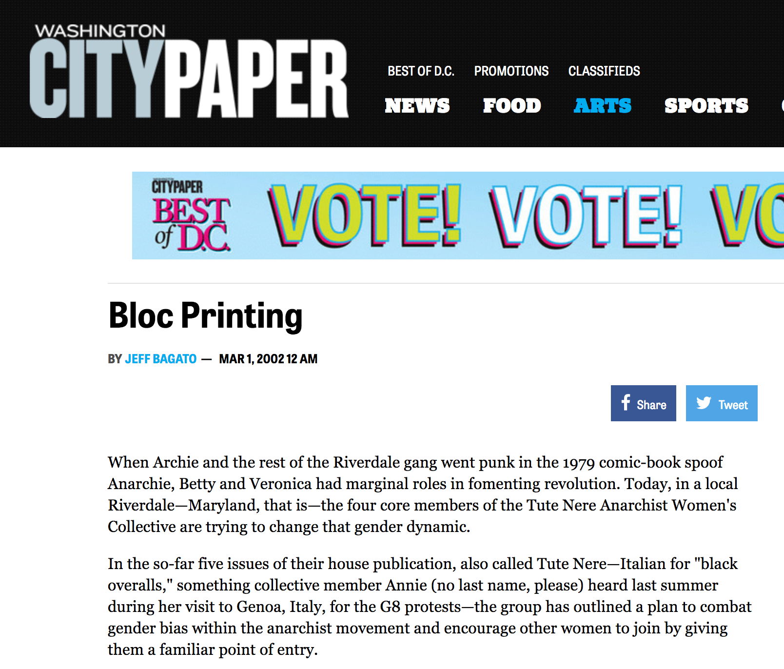city paper-tute nere