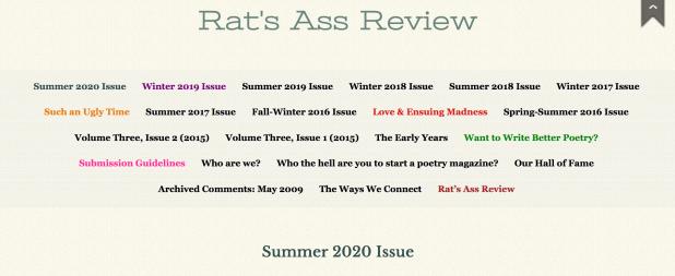 rats ass sum 2020