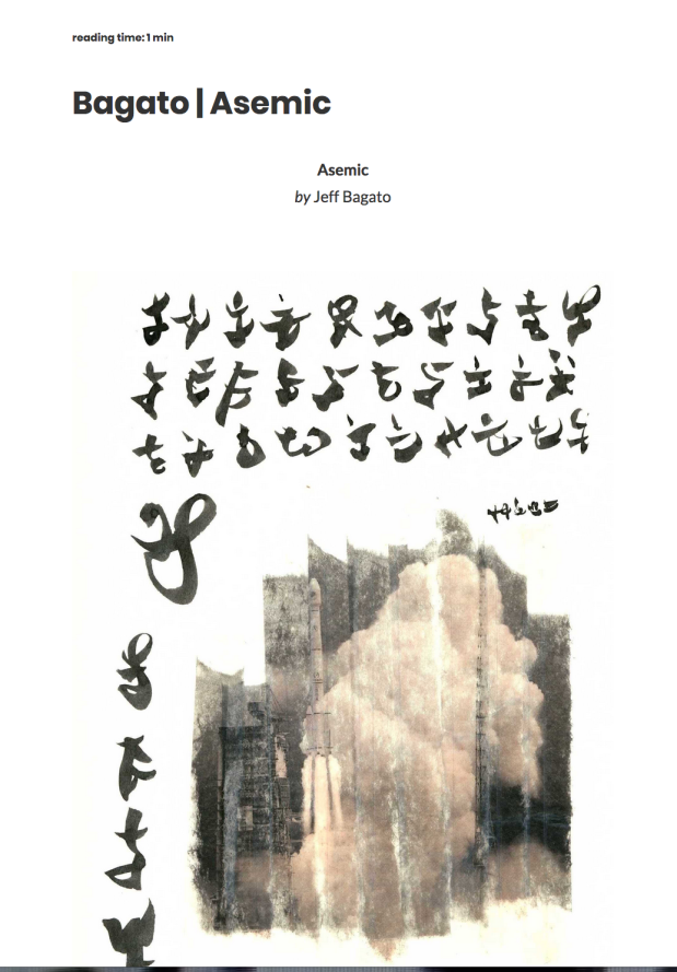utsanga 24 asemic poem